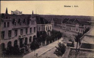 Ak Güsten im Salzlandkreis, Partie am Thüringer Hof, Inh. H. Vendran
