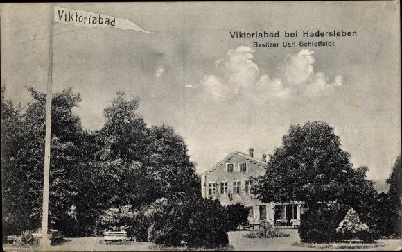 Ak Haderslev Hadersleben Dänemark, Viktoriabad, Bes. Carl Schlotfeldt