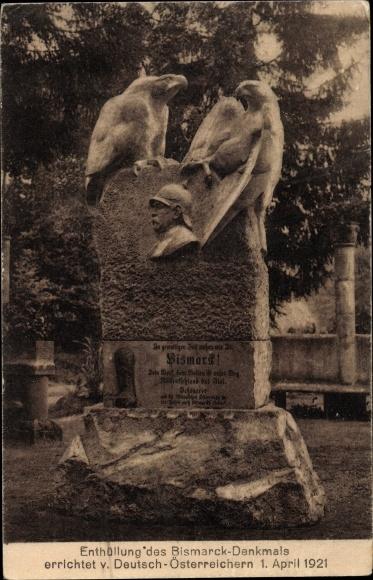 Ak Hofriede Aumühle in Schleswig Holstein, Bismarckdenkmal
