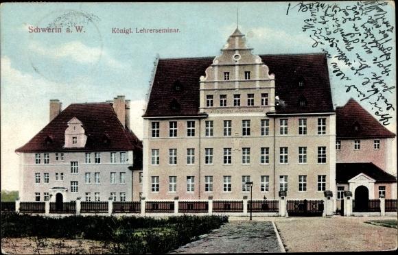 Ak Skwierzyna Schwerin Warthe Ostbrandenburg, Königliches Lehrerseminar