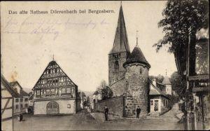 Ak Dörrenbach Bad Bergzabern Rheinland Pfalz , Partie am alten Rathaus