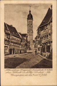 Ak Braunschweig in Niedersachsen, Andreaskirche, Wollmarkt mit alte Waage, alte Häusergruppe
