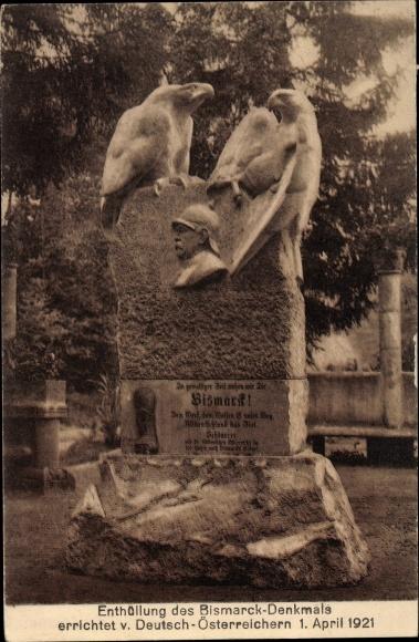 Ak Hofriede Aumühle in Schleswig Holstein, Enthüllung des Bismarck Denkmals