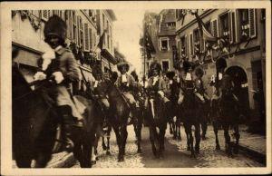 Ak Sélestat Schlettstadt Elsass Bas Rhin, Fêtes du Tricentenaire Français 1934, Cornette des Dragons
