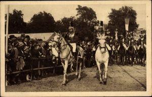 Ak Sélestat Schlettstadt Elsass Bas Rhin, Fêtes du Tricentenaire Français 1934, Régiment Cuirassiers