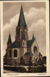 Ak Kaiserslautern in Rheinland Pfalz, Apostelkirche, Außenansicht