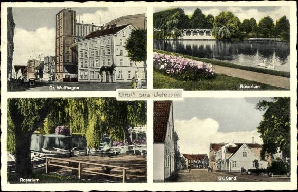 Ak Uetersen in Schleswig Holstein, Rosarium, Groß Sand, Groß Wulfhagen, Gewässer