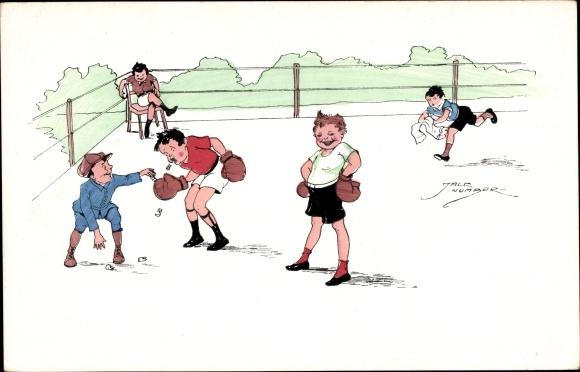 Künstler Ak Number, Jack, Boxkampf, Boxer, Ausgeschlagene Zähne, PFB 2116/4