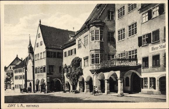 Ak Isny im Allgäu Baden Württemberg, Rathaus, Außenansicht