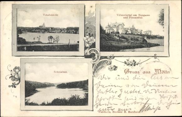 Ak Mölln in Schleswig Holstein, Villenviertel am Heegasee und Pinnautal, Schmalsee