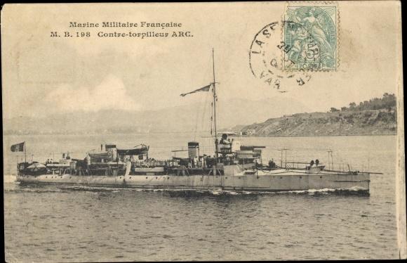 Ak Französisches Kriegsschiff, Arc, Contre Torpilleur, Marine Militaire Francaise