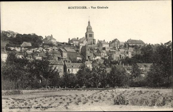 Ak Montdidier Somme, Vue Générale, Totalansicht der Ortschaft, Kirchturm