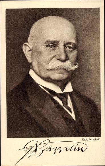 Ak Ferdinand Graf von Zeppelin, Portrait, Zeppelin-Eckener-Spende