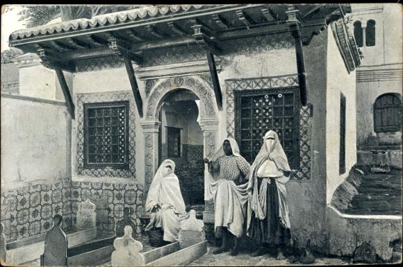 Ak Algier Alger Algerien, Tombeaux interieur Mosquee Sidi Abderhaman, Grabstätten, Frauen
