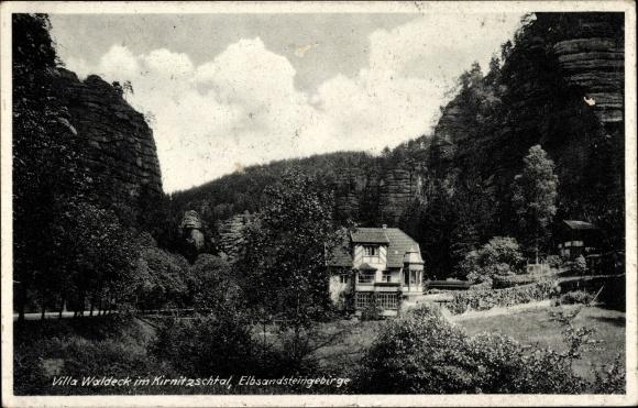 Ak Kirnitzschtal Sebnitz in Sachsen, Villa Waldeck im Kirnitzschtal