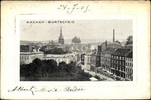 Präge Passepartout Ak Burtscheid Aachen, Teilansicht der Stadt