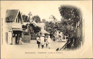 Ak Tamatave Toamasina Madagaskar, Vue de la Rue du Commerce