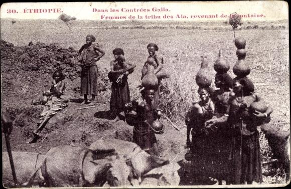 Ak Äthiopien, Femmes de la tribu des Ala, revenant de la fontaine