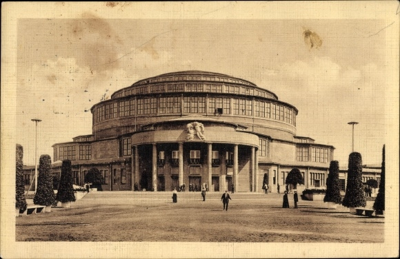 Ak Wrocław Breslau Schlesien, Jahrhunderthalle, Ausstellung zur Jahrhundertfeier der Freiheitskriege