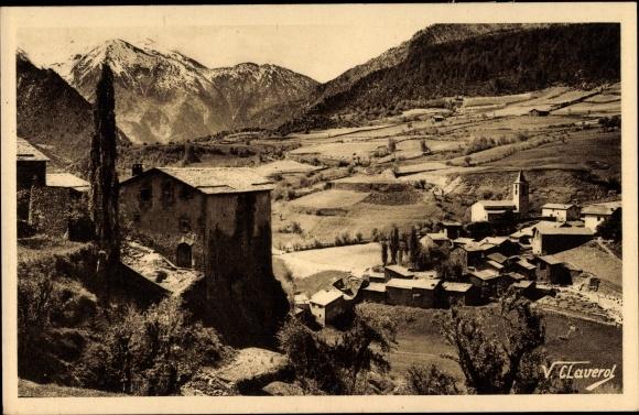 Ak La Massana Andorra, Vue sur la Ville, Blick auf Ortschaft und Umgebung