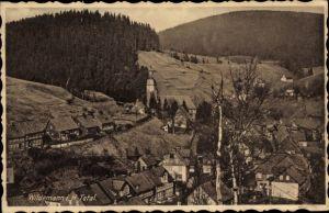 Ak Wildemann Clausthal Zellerfeld im Oberharz, Teilansicht vom Ort, Panorama
