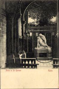 Ak Köln am Rhein, Blick auf Pieta in St. Gereon