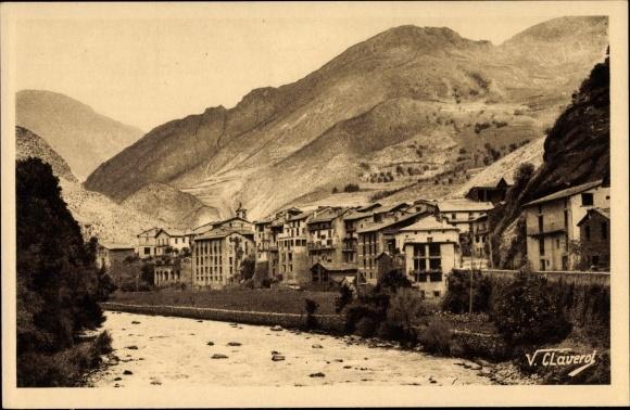 Ak Sant Julià de Lòria Andorra, Teilansicht von der Ortschaft