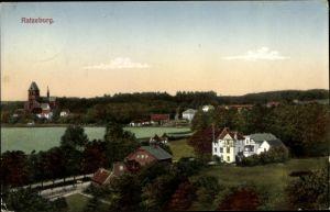 Ak Ratzeburg in Schleswig Holstein, Panorama vom Ort