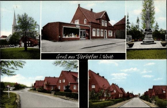 Ak Vorhelm Ahlen im westfälischen Münsterland, Ansichten vom Ort