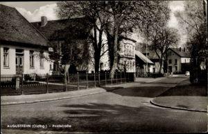 Ak Augustfehn Apen Niedersachsen, Partie der Poststraße