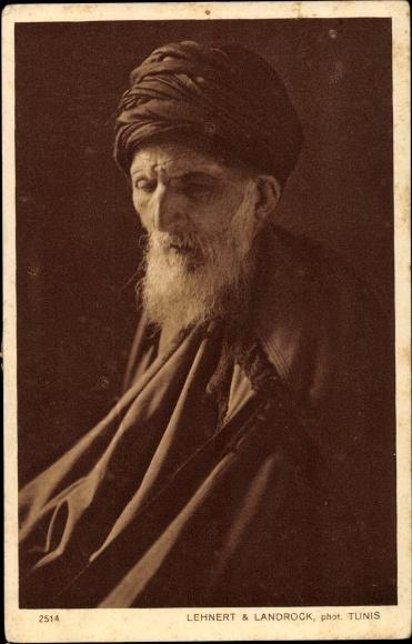 Ak Vieux Rabbin, Alter Rabbiner, Portrait, Jude
