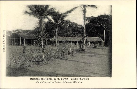 Ak Mbamou Französisch Kongo, Missions des Pères du St. Esprit, La maison des enfants