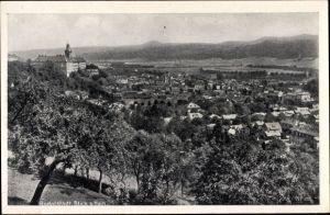 Ak Rudolstadt in Thüringen, Blick vom Hain auf den Ort mit Umgebung