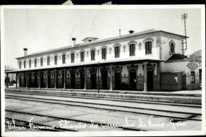 Foto Ak Vilar Formoso Portugal, Estaco do Caminho de Ferro Gare