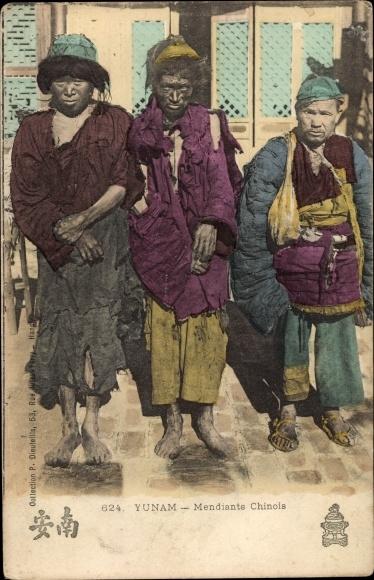 Ak Yunam Yunnan China, Mendiante Chinois, Chinesischer Bettler