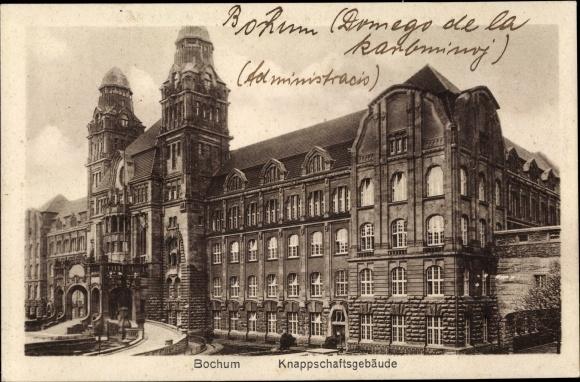 Ak Bochum im Ruhrgebiet, Knappschaftsgebäude, Vorderseite