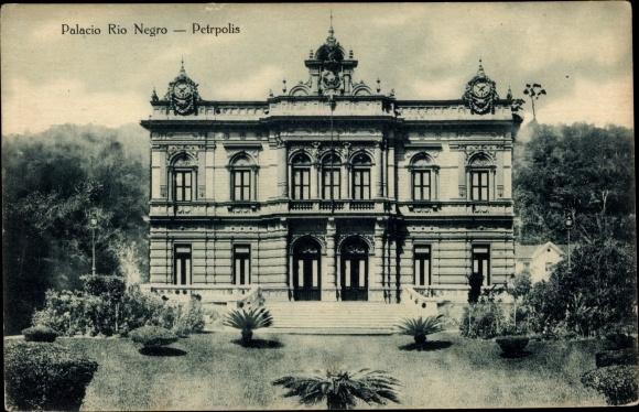 Ak Petrópolis Brasilien, Palacio Rio Negro, Palast