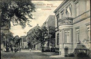 Ak Rheda Wiedenbrück Nordrhein Westfalen, Langestraße, Wohnhäuser, Anwohner