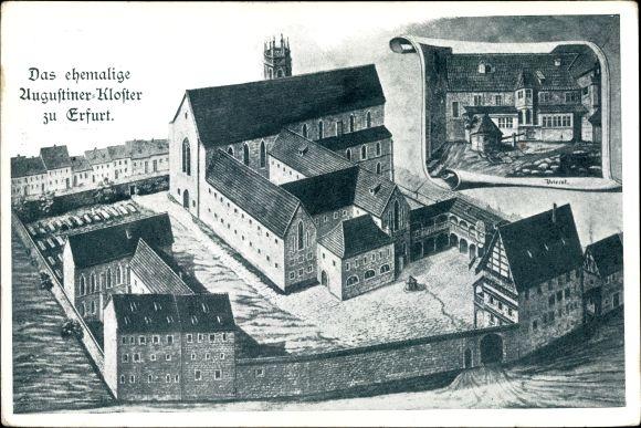 Künstler Ak Erfurt in Thüringen, Das ehemalige Augustinerkloster