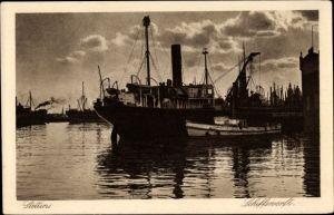 Ak Szczecin Stettin Pommern, Schiffswerft