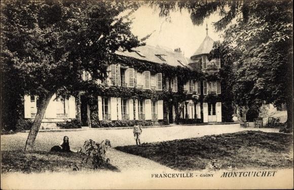 Ak Gagny Seine Saint Denis, Franceville, Montguichet, Blick auf ein Gebäude
