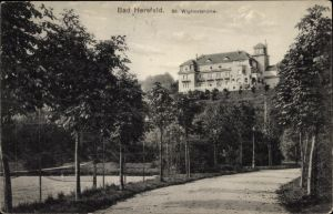 Ak Bad Hersfeld in Hessen, St. Wigbertshöhe, Tennisplatz