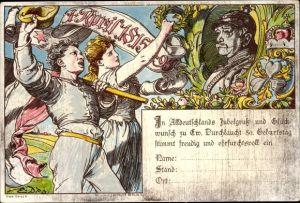 Vorläufer Litho Fürst Otto von Bismarck, 01. April 1815 bis 1895