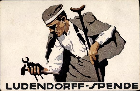 Künstler Ak Hohlwein, Ludwig, Ludendorff Spende, Kriegsveteran, Werkzeuge