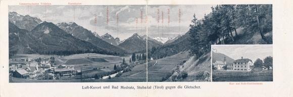 Klapp Ak Bad Medratz in Tirol, Kur- und Bade- Etablissement, Kesselspitze, Wildeben, Ilmspitze 0