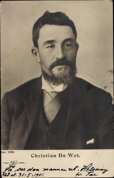 Ak Christian De Wet, Südafrikanischer Politiker und General im 2. Burenkrieg, Portrait