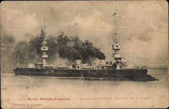 Ak Französisches Kriegsschiff, Latouche Tréville, Croiseur de 1re classe, Marine Militaire Francaise