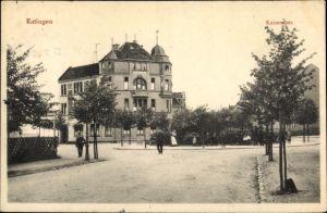 Ak Ratingen Nordrhein Westfalen, Kaiserplatz, Villa, Straßenpartie, Anwohner