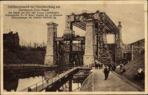 Ak Waltrop im Ruhrgebiet, Schiffshebewerk Henrichenburg, Dortmund-Ems-Kanal, Publikum