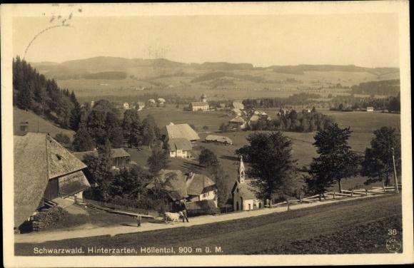 Ak Hinterzarten im Südschwarzwald, Höllental, Kirche, Panorama
